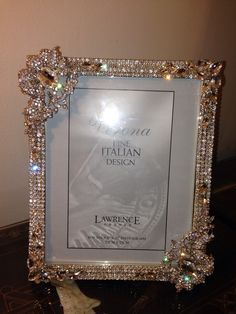 NEW CUSTOM CRYSTALLIZED PICTURE FRAME 8x10 Perfect For Wedding Photos And Etc Authentic