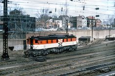 New Haven Railroad Baldwin-Westinghouse EP-2 (aka Tiger) 1-C-1+1-C-1 electric locomotive # 322, is seen wearing the McGinnis color scheme near Motor Storage in New Haven, Connecticut, mid 1950's, Mac Seabree Collection