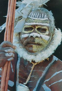 Tiwi ceremonial body design / The Tiwi Islands, Australia, comprise two inhabited islands – Bathurst and Melville - and nine smaller uninhabited islands. They are located in the eastern Timor Sea 80 kilometres north of Darwin in the Northern Territory.