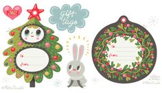 A round up of my favourite free Christmas printables for this holiday's gift giving: gift tags, wrapping paper and cute paper ornaments.