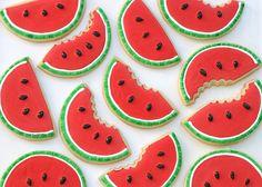 Watermelon (shaped) Cookies