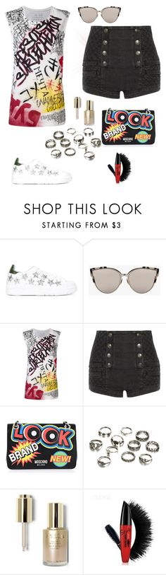 """Freaky Side..."" by nancybcrtn ❤ liked on Polyvore featuring Chiara Ferragni, Faith Connexion, Pierre Balmain, Moschino and Stila"