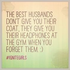 The best husbands give you their headphones at the gym <3 @IgniteGirls