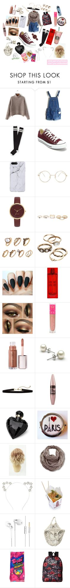 """""""Untitled #89"""" by bi-sky132 ❤ liked on Polyvore featuring Aéropostale, Converse, Forever 21, Nine West, LULUS, Elizabeth Arden, Jeffree Star, Maybelline, Lipsy and Venus"""