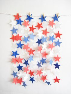 Little Paper Dog | 4th of July backdrop