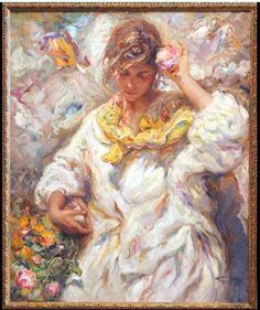 Aire Fresco Original Oil on Canvas Painting Fine Art by Jose Royo