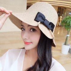 Packable Floppy Summer Sun Beach Straw Hats - Foldable