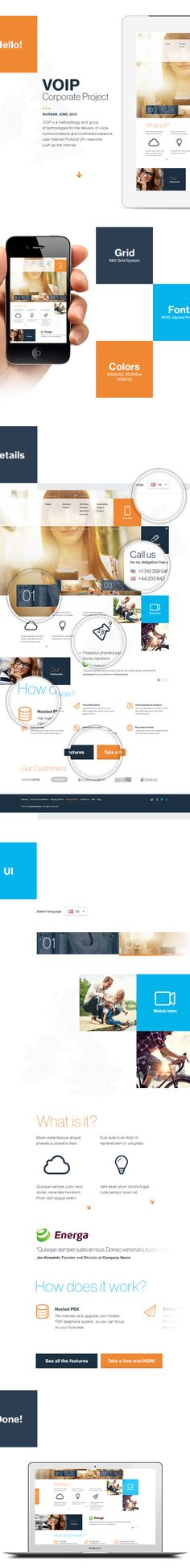 VOIP Company by Adam Rudzki, via Behance