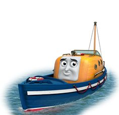 Thomas & Friends Captain The Life Boat Thomas And Friends Engines, Thomas And His Friends, Standard Gauge, Friend Book, Toy Trains, Thomas The Tank, Character Profile, Car Logos, Power Boats