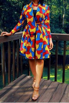 African+print+dress/African+print+coat/African African Outfits, African Clothes, Inspirer, Kitenge, Africa Fashion, African Style, Impression, Ghana, Ankara
