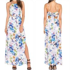 Urban Outfitters JOA Floral Maxi Dress Urban Outfitters JOA Floral Maxi Dress 100% Polyester dry clean only new with tag partially lined. Hidden side Zipper closure. Adjustable back tie closure. Back center slit. Tag is L comes with a adjustable bandana style tie back. Urban Outfitters Dresses Maxi