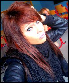 cheveux brun fonc et reflet bordeaux recherche google - Coloration Cheveux Rouge Bordeaux