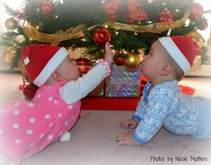 Twins Christmas  Photo by Nicole Mutters http://www.facebook.com/pages/Photos-by-Nicole-Mutters/210703892317779