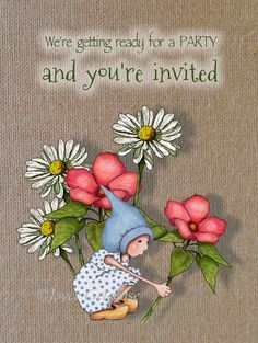 Printable Party Invitation Gnome Child with by FreshAirPrintables