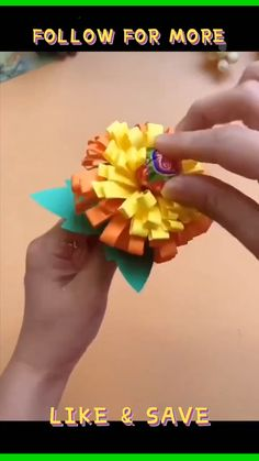 Diy Crafts For Girls, Diy Crafts To Do, Cute Crafts, Flower Crafts, Diy Flowers, Candy Crafts, Tissue Paper Flowers, Paper Crafts Origami, Dahl