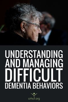 Learn how caregivers can manage sundowning, aggression, wandering, and other difficult dementia behaviors and what causes these dementia-related behaviors. Source by LESipp Alzheimer Care, Dementia Care, Alzheimer's And Dementia, Vascular Dementia, Dementia Quotes, What Is Dementia, Dementia Symptoms, Dementia Training, Occupational Therapy