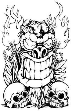 Larry Brogan - Tiki fire bowl | tattoos | Pinterest | Tiki tattoo ...
