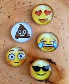 Stocking Stuffers? Perfect for my Apple Friends :P ~ Magnets iphone emoji's set of 5 by Tiffanysmethod on Etsy