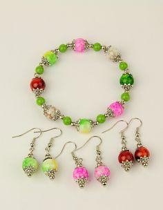 PandaHall Jewelry-Spray Painted Glass Jewelry Sets: Stretchy Bracelets & Earrings   PandaHall Beads Jewelry Blog