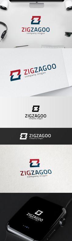 Z Logo Template - Z Letterform - Zig Zag