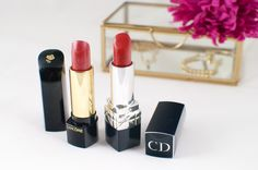 Lancôme L'absolu Rouge 12 and Dior Rouge 999   Make-up   Lipstick   High end