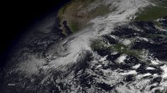 Hurricane Patricia is seen churning in the Pacific on October 23, 2015.  The now category 5 hurricane is heading towards Mexico and is being called the strongest hurricane ever recorded in the western hemisphere.  Photo: Handout, Getty Images