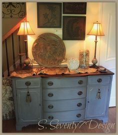 Gorgeous/ Hand Painted/ Mahogany Buffet / by SSeventy7Design, $1200.00