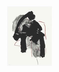 Artwork by Robert Motherwell, Calligraphy I, Made of lithograph in colors, on Somerset paper