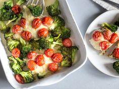 Low Carb Putenschnitzel mit Brokkoli und Kirschtomaten