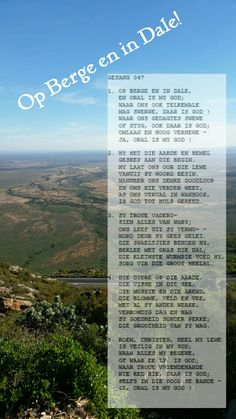 Op berge en in dale - JA ORAL IS MY GOD Gods Glory, Christian, Singing, Christians