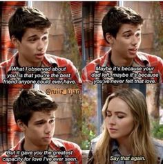 #GirlMeetsWorld Girl Meets Ski Lodge (this was a touching moment between Josh and Maya, what he said to her was sweet)