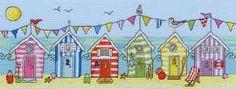 beach hut applique pattern free - Google Search
