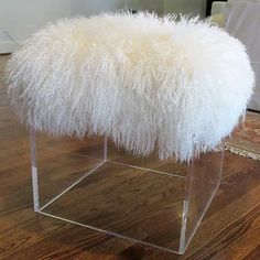Mongolian Lamb Fur Tibet Lamb Stool Cover