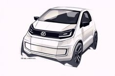 Volkswagen In Concept Design Sketch.