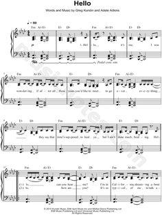 "Adele ""Hello"" Sheet Music (Easy Piano) - Download & Print"