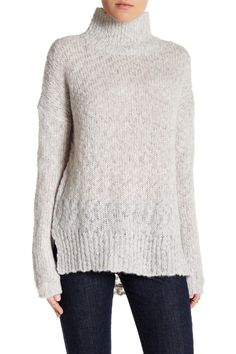 Comfy cozy in this Velvet By Graham & Spencer Loose Knit Turtleneck Wool Blend Sweater