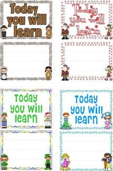 Learning Targets Made Easy - Stop the Insanity! Write your own learning targets and have the kids help you! $5.00
