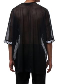 oversize net black tshirt fashion man black style www.rubengalarreta.com