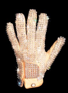 This is the glove that Michael Jackson wore at the 1983 Motown anniversary performance where the moonwalk was born.