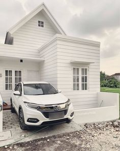 Modern Small House Design, Small House Exteriors, Modern Minimalist House, Design Your Dream House, Home Building Design, Home Room Design, Home Design Plans, Building A House, Minimalis House Design