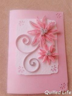 Quilled Life: Różowe rozgwiazdy #quilling #birthdaycard #paper #flowers #handmade