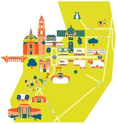 Byvik Ink- Map of Balboa Park, San Diego