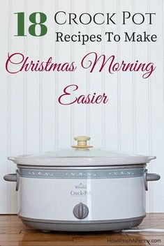18 Crock Pot Recipes To Make Christmas Morning Easier.What if your breakfast was already done for you when you woke on that magical Christmas morning? Here are 18 crockpot recipe to make Christmas morning easier. Crock Pot Food, Crockpot Dishes, Crock Pot Slow Cooker, Slow Cooker Recipes, Cooking Recipes, Crockpot Meals, Crock Pot Breakfast Recipes, Freezer Meals, Slow Cooker Breakfast