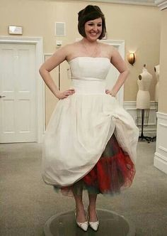 Short wedding dress with rainbow theres for Rainbow wedding dress say yes to the dress