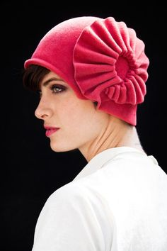 Oh pink cloche, how I wish I looked good enough in hats to spend almost $400 you. by yellowfiel7 on etsy.