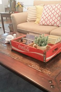 Repurposed Coca Cola Boxes - DIY Inspired