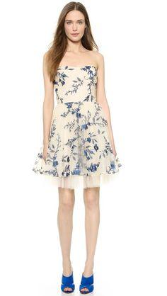 5234586ceed8 Embroidered Strapless Dress. MarchesaDrømmekjoleAfslappet KjolerBat Mitzvah Smukke ...