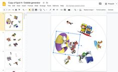Upload a few images to Google Drive, press a trigger to start a little Apps Script code and get your own Dobble game on Google Slides