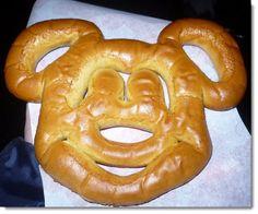 Mickey Mouse pretzel-favorite snack in the Magic Kingdom!