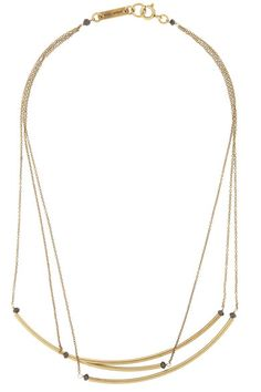 Isabel MarantGold-tone Brass and Bead Necklace $180 Net-a-porter